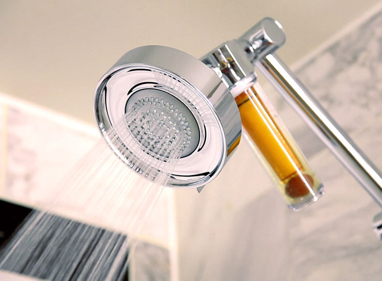 A Vitamin C-infused shower in a Stay Well room.