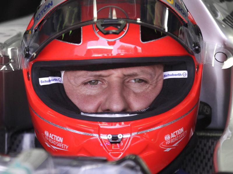 Michael Schumacher during practice