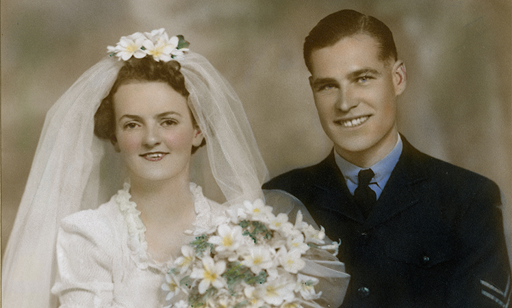 Joy and Bill in 1944