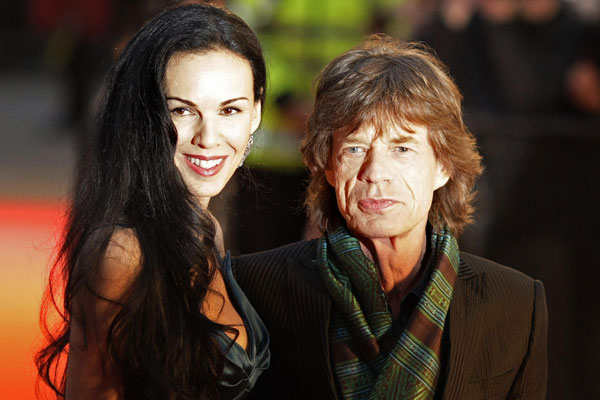 With Jagger in 2008.