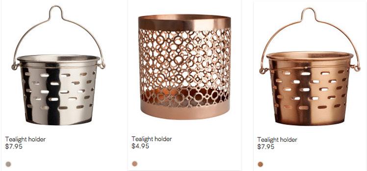 metallic-tealight-holders