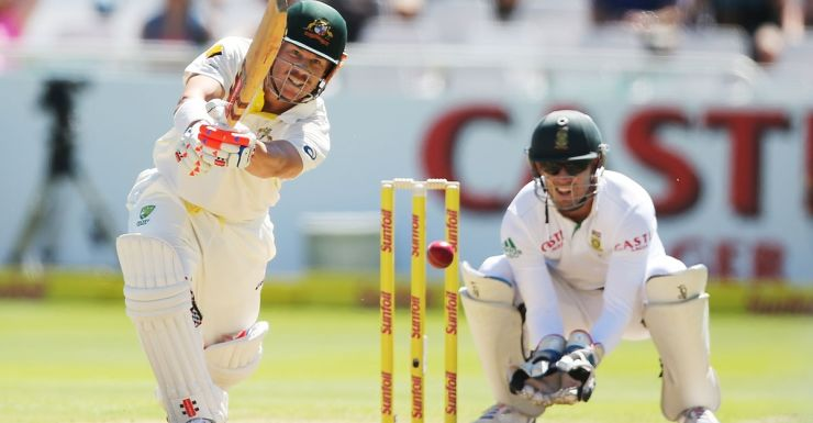 Warner on his way to another ton.