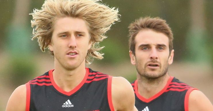 Dyson Heppell and Jobe Watson are named in the report.