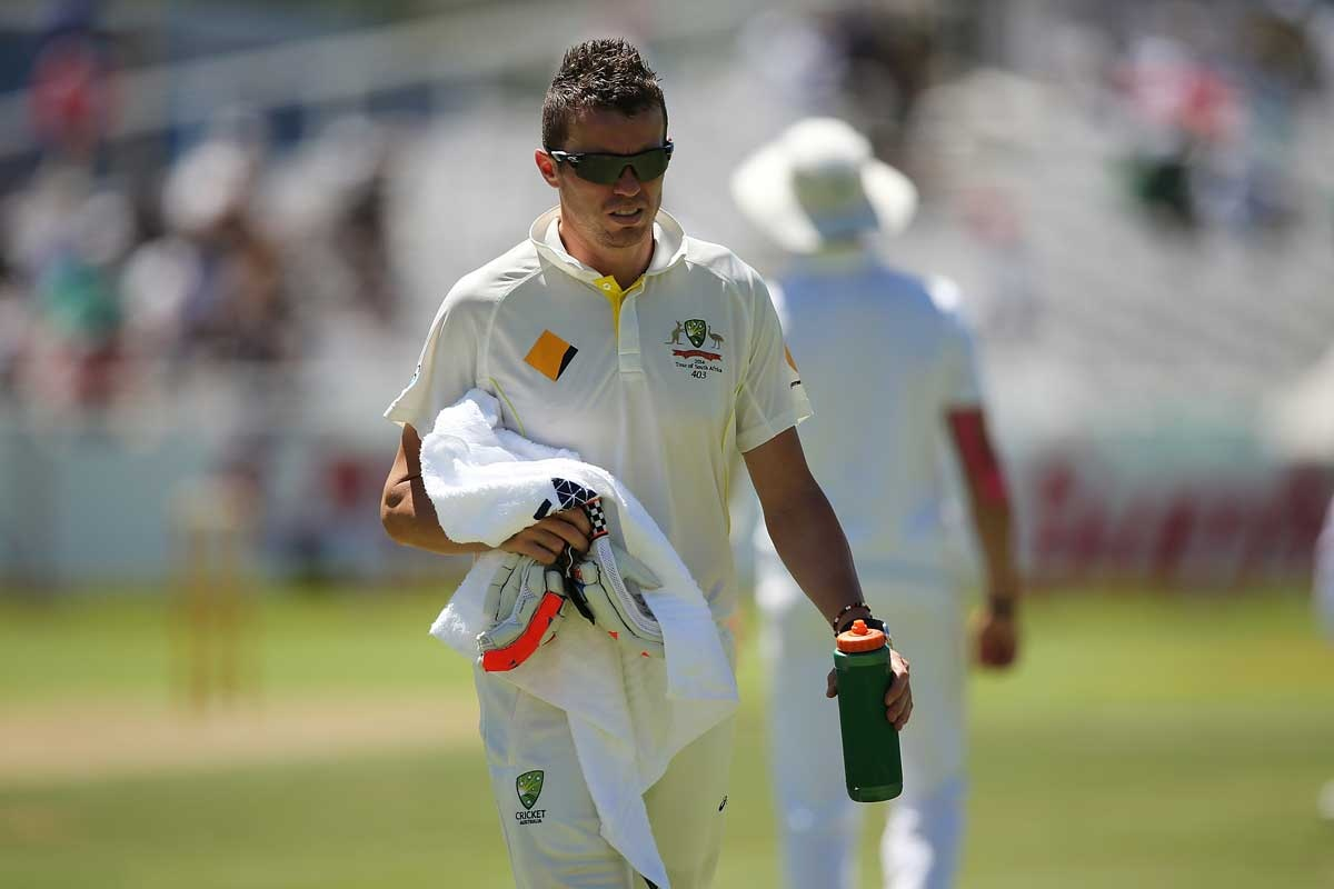 Peter Siddle in the role of drinks waiter.