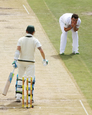 Clarke left several perilously close balls. Picture: Getty