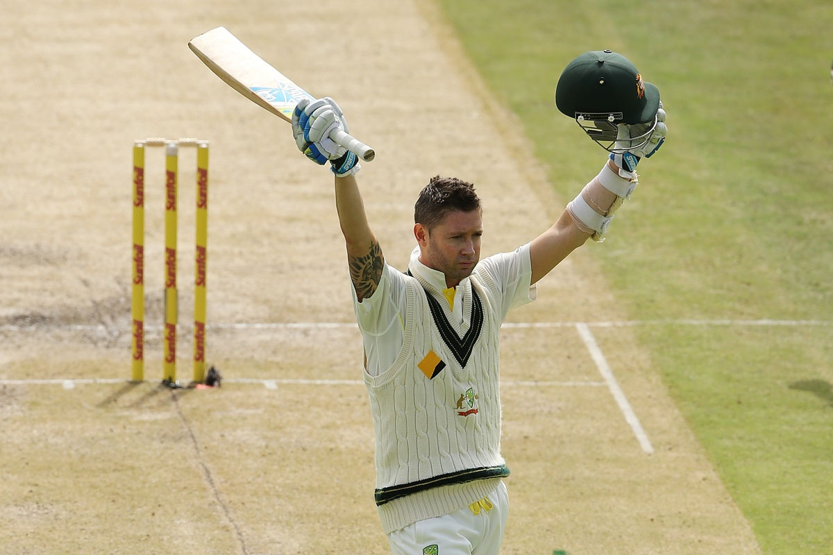 Michael Clarke after posting his ton at Newlands.