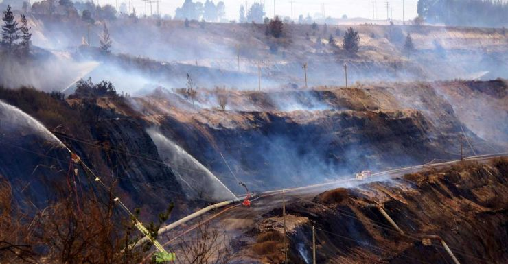 Hazelwood coal mine fire