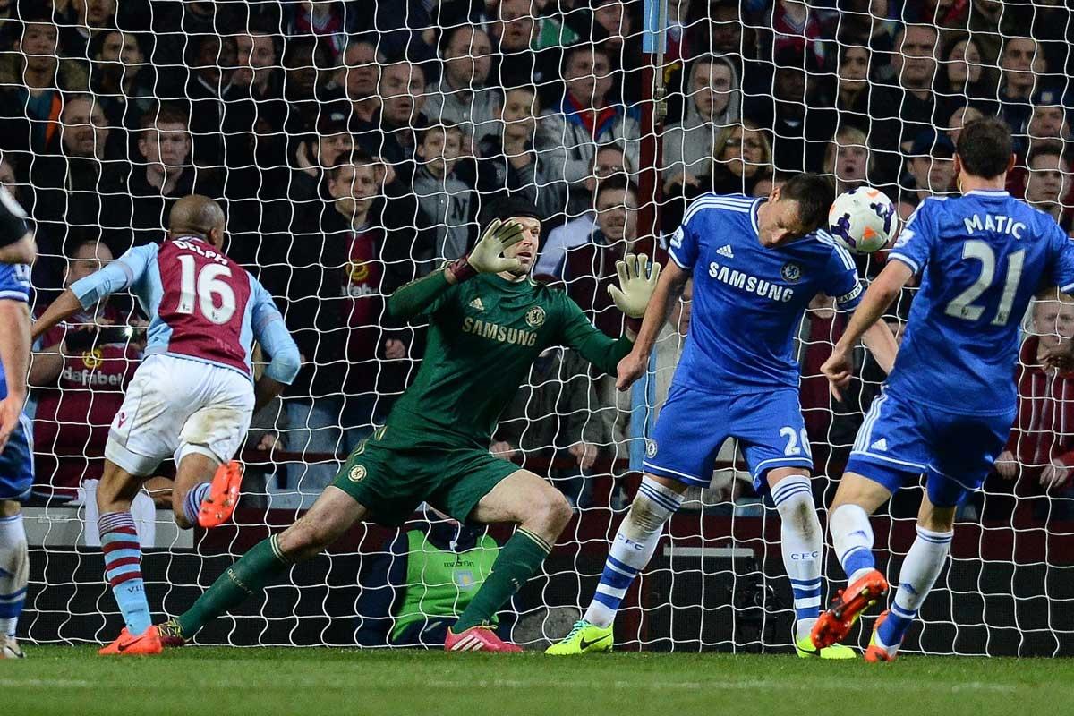Aston Villa's Fabian Delph breaks Chelsea hearts.