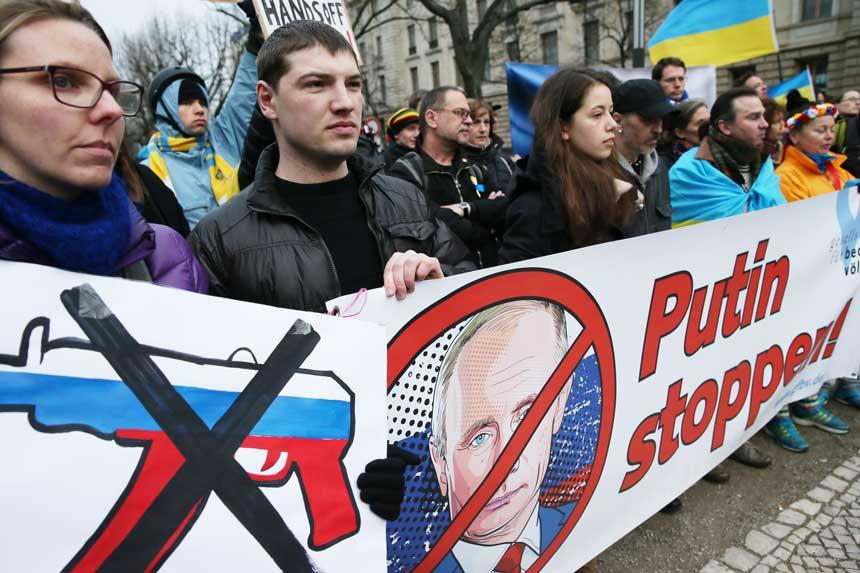 Anti-Putin demonstrators