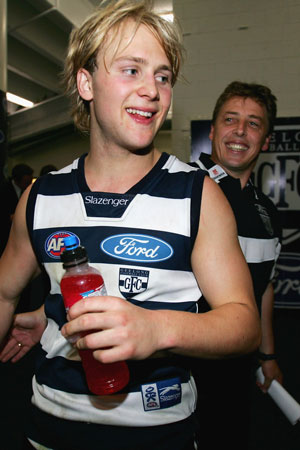 Days of innocence: with a young Gary Ablett. Picture: Getty