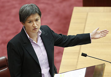 Penny Wong led Labor's attack. Picture: Getty