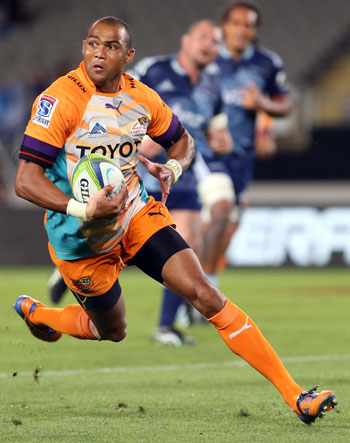 Cornal Hendricks struts his stuff for the Cheetahs. Picture: Getty