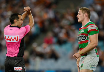 George Burgess, who is in danger of following in Sam's footsteps, is put on report. Picture: Getty