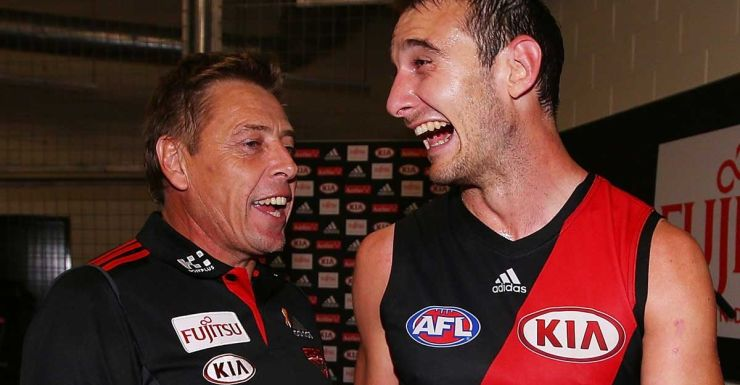 James who? Mark Thompson and Jobe Watson in full voice.