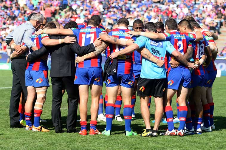 The Knights pay tribute to McKinnon. Photo: Getty