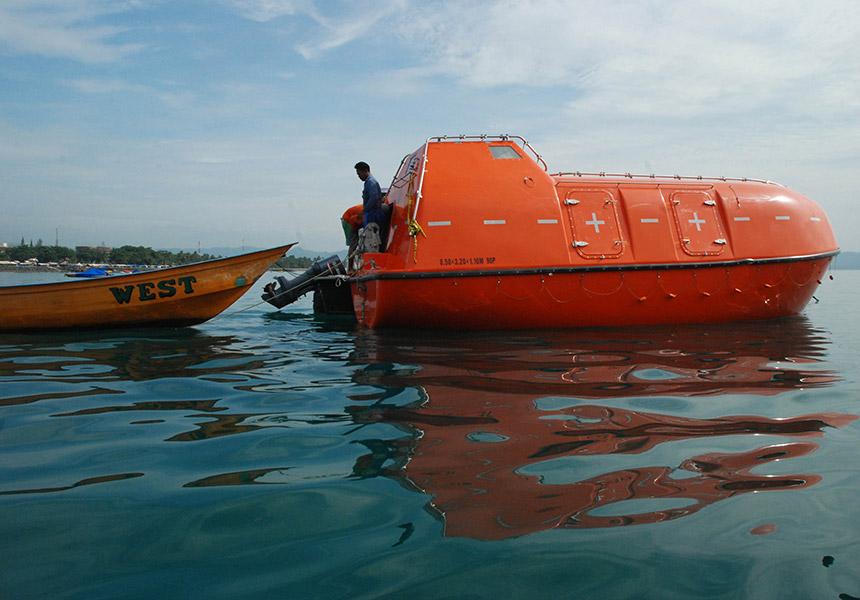 Asylum seeker life boat