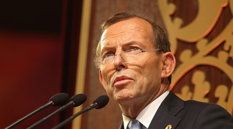 PM Tony Abbott has spoken about MH370 before leaving for PNG