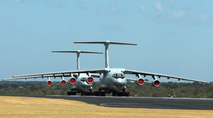 Chinese Ilyushin aircraft at RAAF Pearce base in WA are expected to join the search.