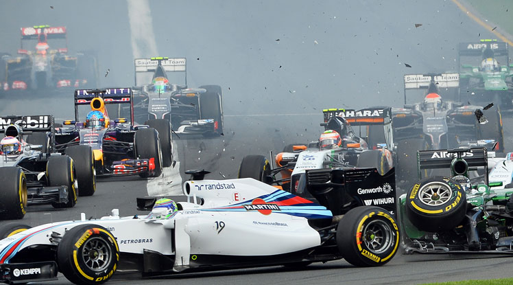 Early race chaos in the Australian F1 Grand Prix.
