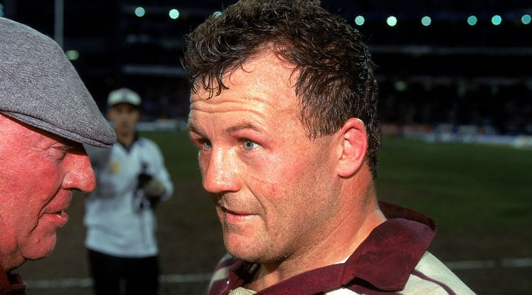 Trevor Gillmeister's courage was a feature of the '95 Origin series.