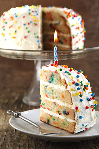 A store-bought cake decorated at home can save you money. Source: ShutterStock.