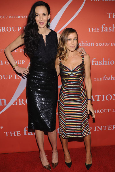 With Sarah Jessica Parker in 2012.