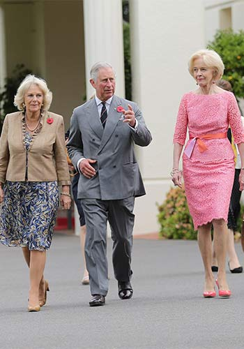 Blowing Prince Charles and his wife Camilla out of the water in November 2012. Photo: Getty