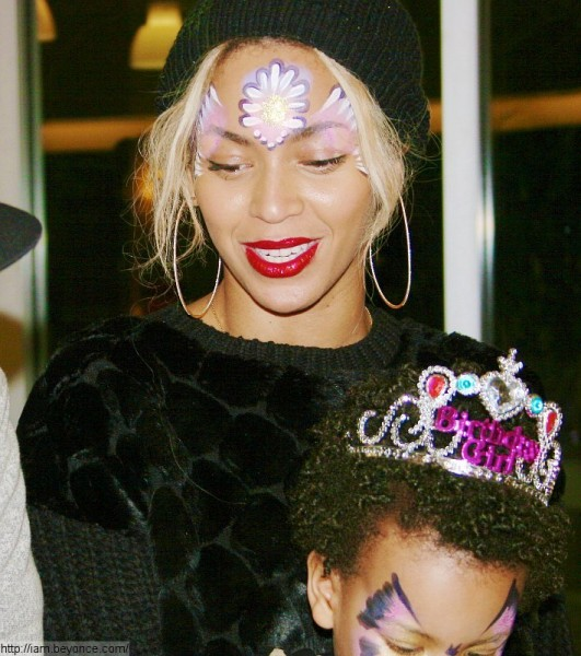 Beyonce celebrating her daughter's second birthday. Photo: beyonce.tumblr.com