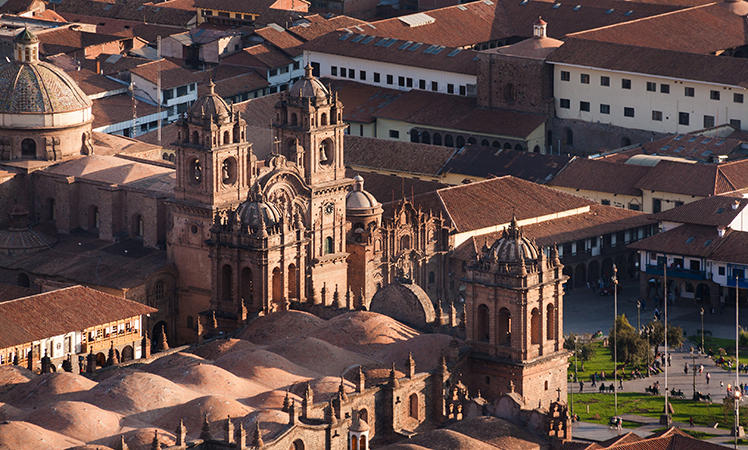 The Peruvian city of Cusco.