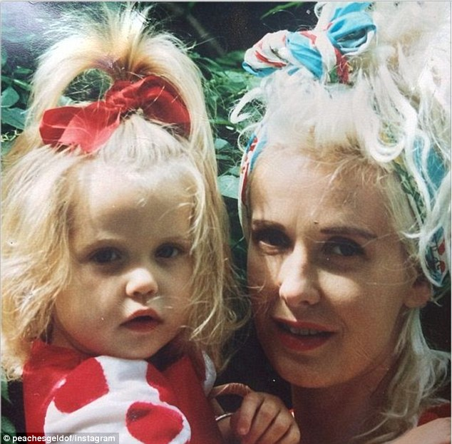 A young Peaches and her mother, Paula Yates. Photo: Instagram