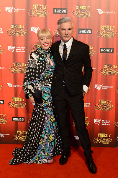 Baz Luhrmann and Catherine Martin at the premiere of Strictly Ballroom The Musical.