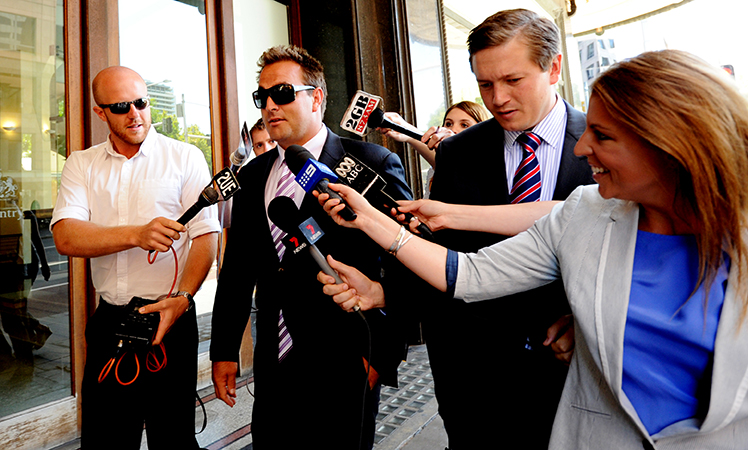 Ryan Tandy arrives for sentencing at Downing Centre local courts in 2012.