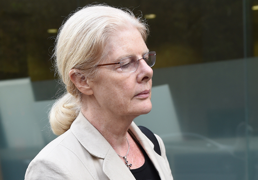 Robyn Gardiner made no reaction when the verdicts were handed down.