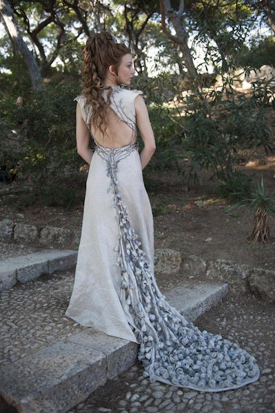 The Queen-to-be Margaery Tyrell in full wedding garb.