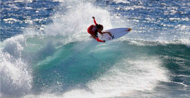 Carissa Moore in sizzling form in Margaret River.