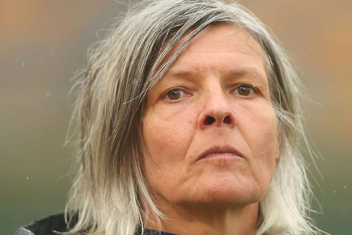 Disciplinarian: Matildas coach Hesterine de Reus.