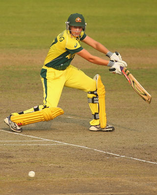 Meg Lanning batted superbly for Australia. Photo: Getty