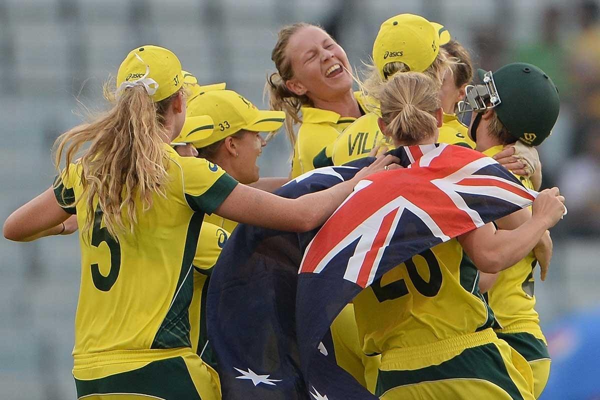 Glory days: Meg Lanning is at the centre of Australian celebrations.