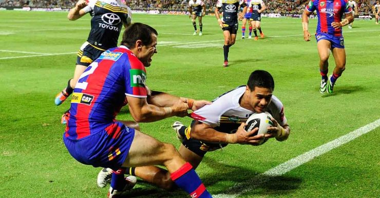 Matthew Wright sets the tone for the Cowboys thrashing of the Knights.