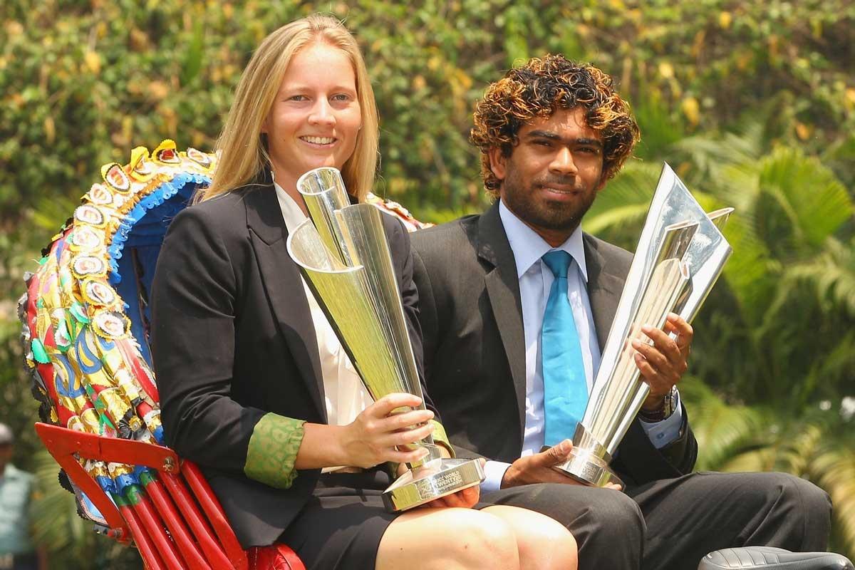 Rare parity: Winning captains Meg Lanning and Lasith Malinga.