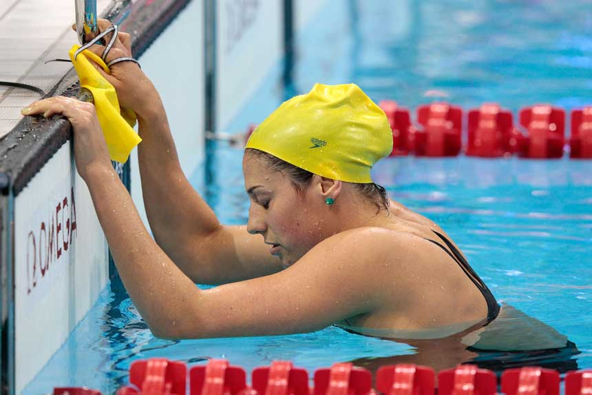 Rice said for a long time she struggled to find purpose in her life post-swimming.