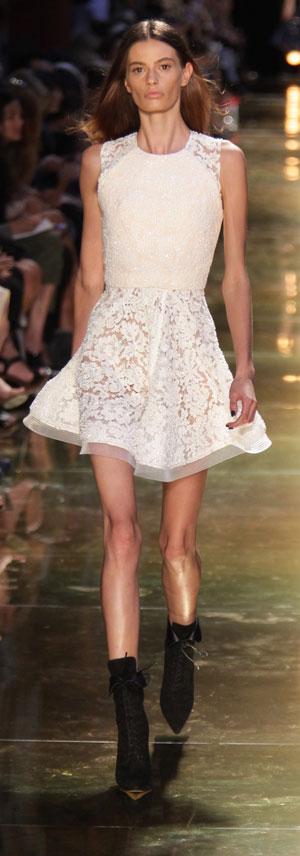 Cassi Van Den Dungen in  an Alex Perry dress. Photo: Getty