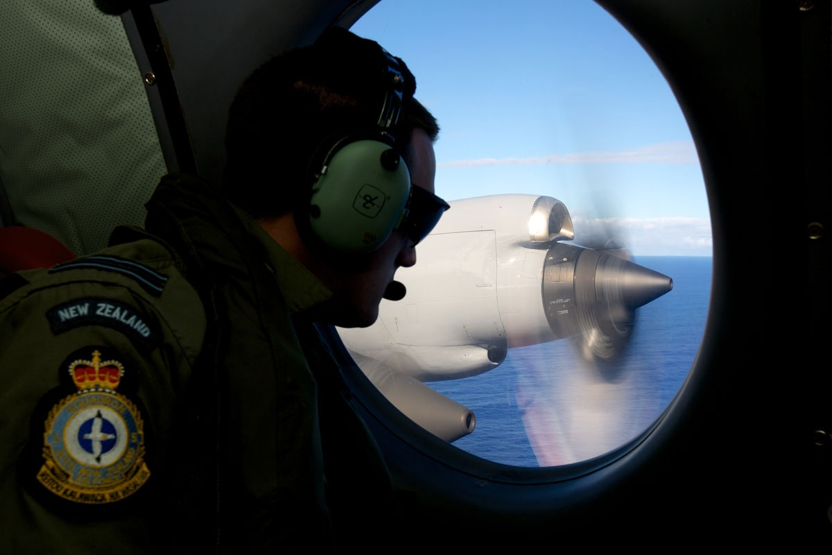 A Royal New Zealand Air Force plane continues the search.