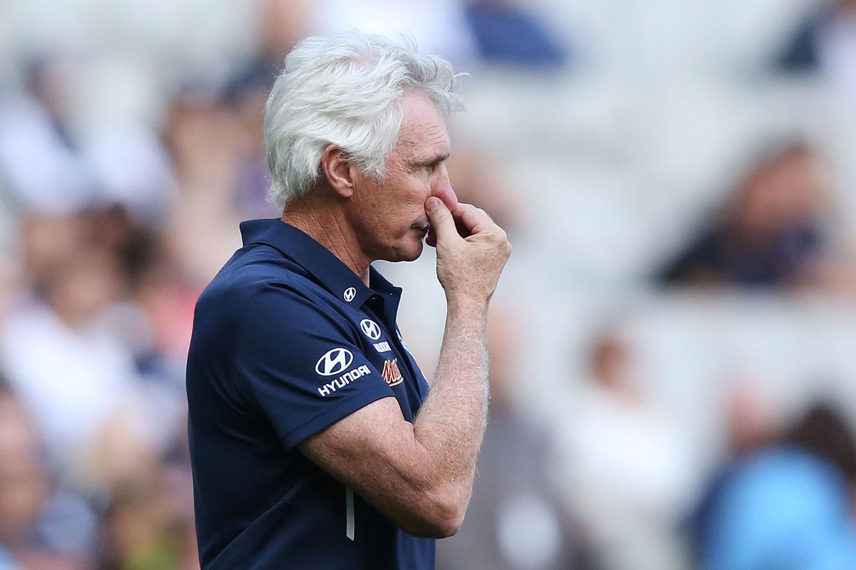 Mick Malthouse coming to terms with another defeat.