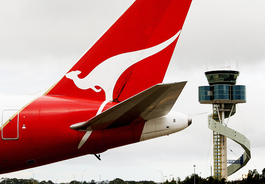 Qantas jet