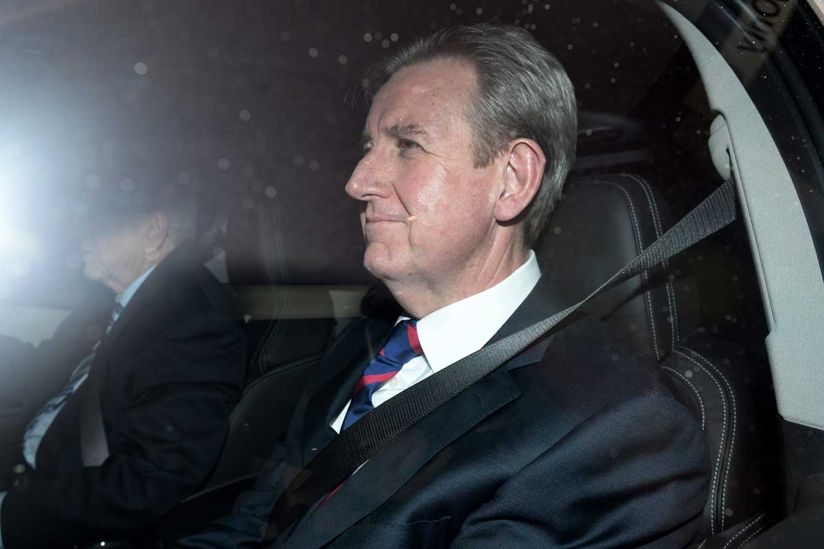 Barry O'Farrell leaves ICAC on Wednesday.