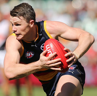 Patrick Dangerfield played a turbo charged game for the Crows. Photo: Getty