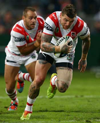 Josh Dugan has been in stellar form for the Dragons. Photo: Getty