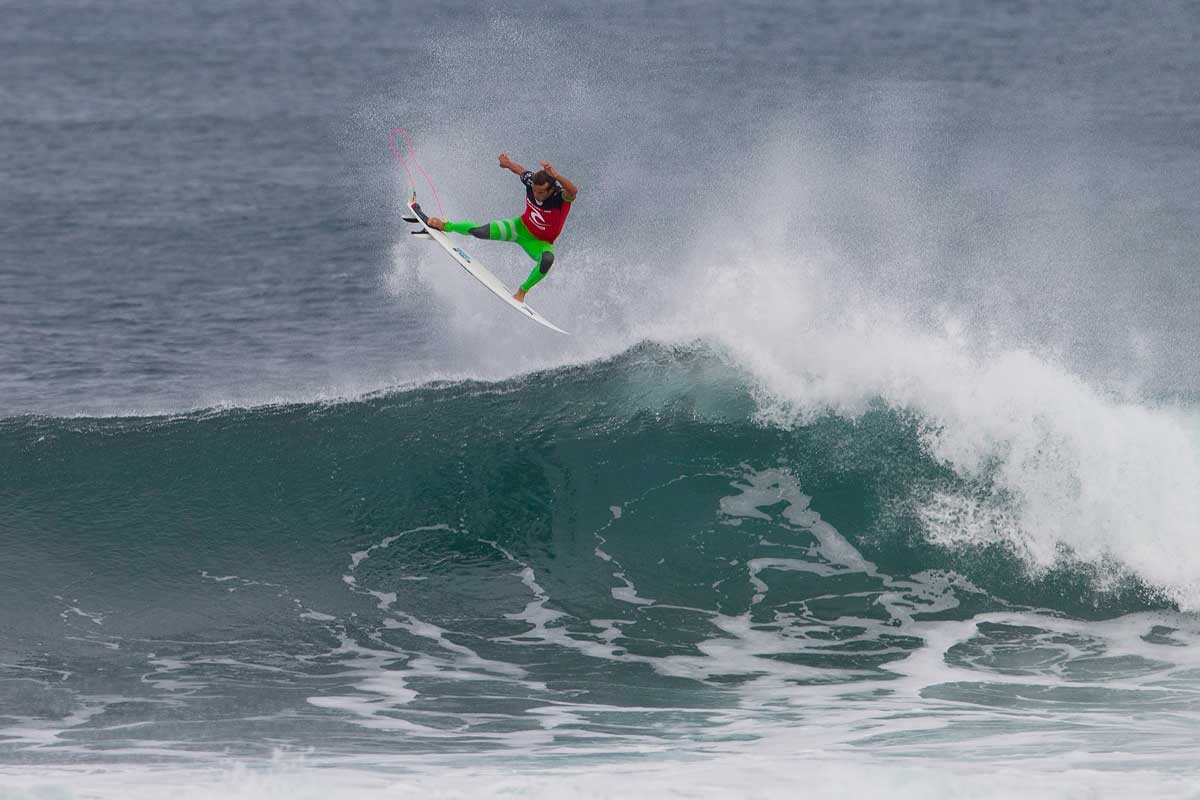 Australia's Julian Wilson gets some serious air at Bells Beach.
