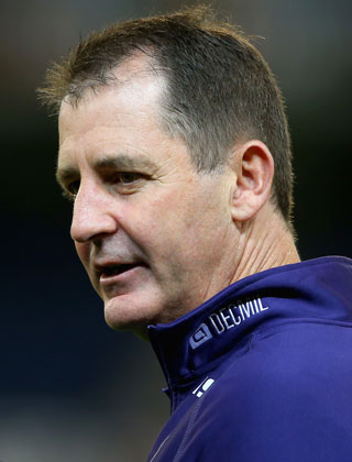 Ross Lyon says his players might as well be wearing saddles. Photo: Getty